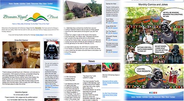 Branson Regal Cabins Newsletter
